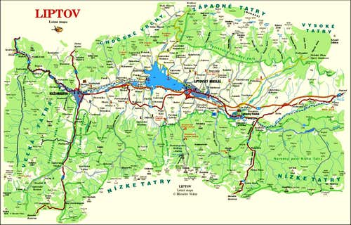 Map of Liptov
