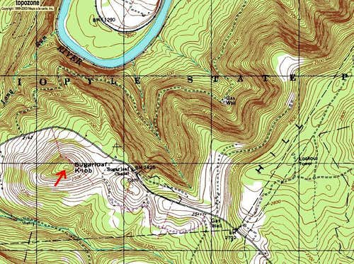 Sugarloaf Knob Area Topo Map