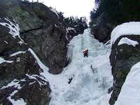 Ice climbing in High Tatry, Slovakia