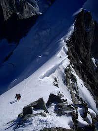 on the final steep ridge