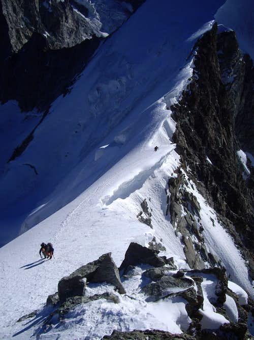 on the final steep ridge