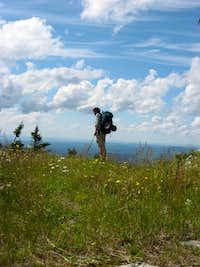 Lone Hiker atop Madonna Peak