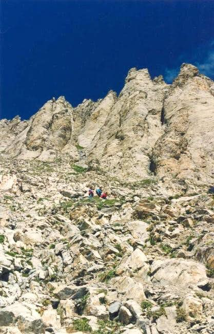 Climbers on the couloir...