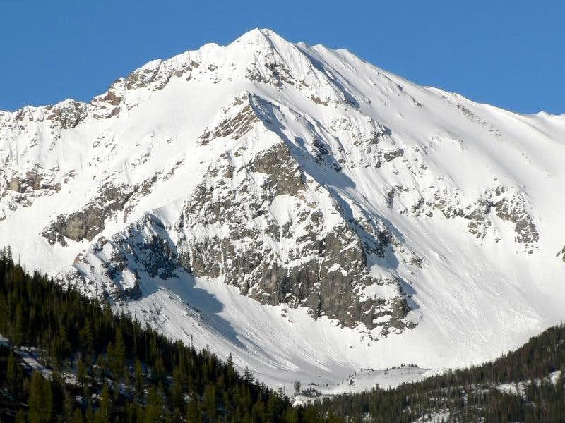 Perkins Peak on the hike to Meridian Peak