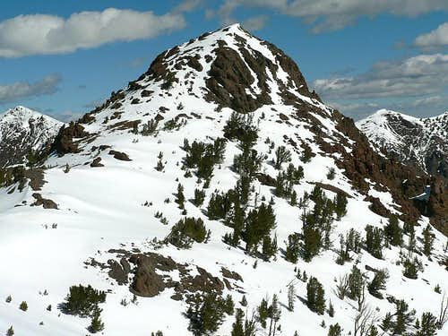 Close-up of Meridian Peak
