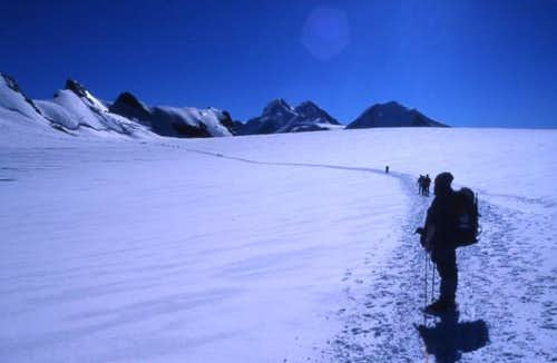 On our way to the Breithorn.