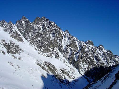 Prostredný Hrot in wintertime