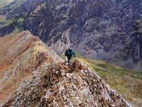 Jamie on the North Ridge...