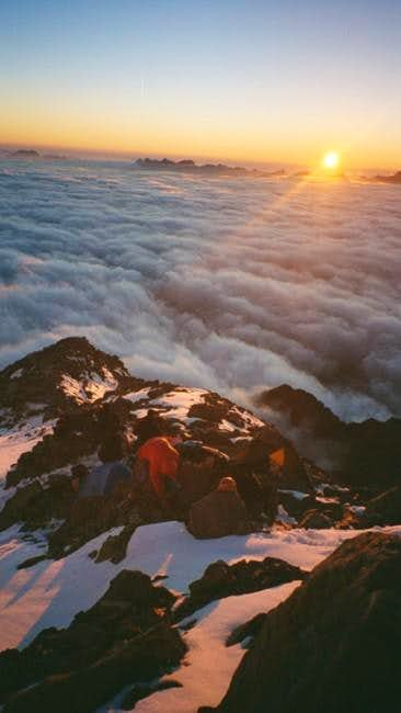 First Camp on the Arete that...