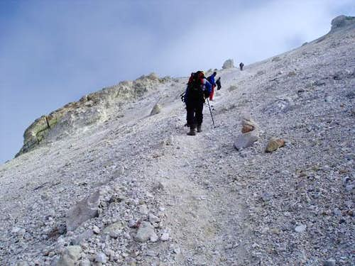 Near the summit of Damavand