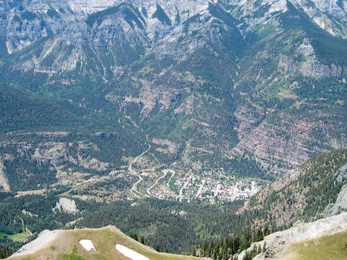 Looking down to Ouray