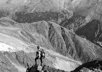 Mischabel hut descent