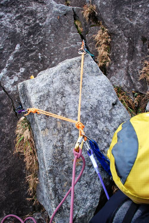 Belay Anchor on Slabs