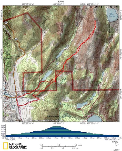 McReynolds Peak topo map