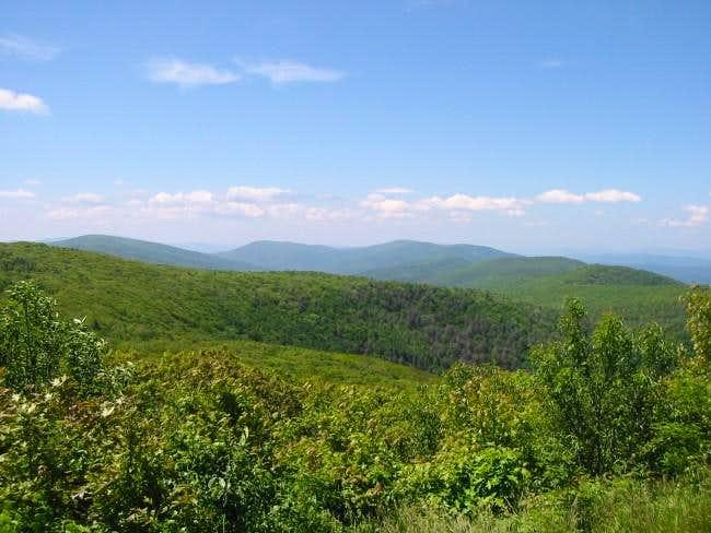 Looking towards Virginia atop...