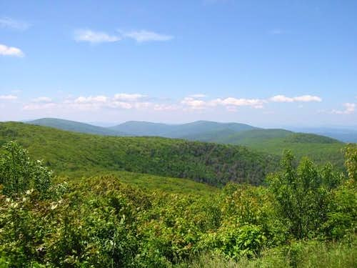 Looking towards Virginia atop...