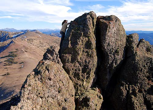 Thimble Peak Summit block