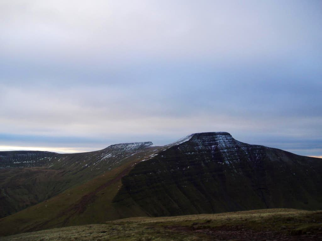 Twin summits of Corn Du and Pen Y Fan
