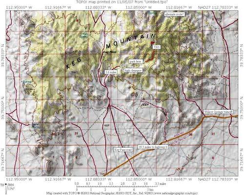 Keg Mtn Map