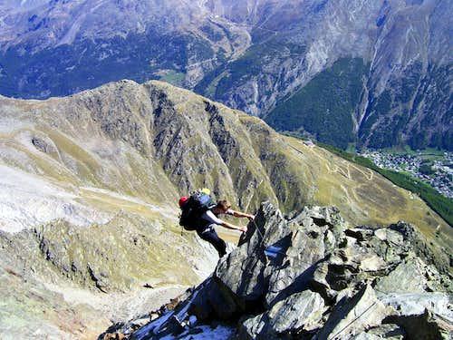 Descent from Mischabel hut