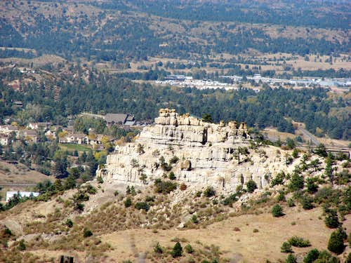 Pulpit Rock from Austin Bluffs