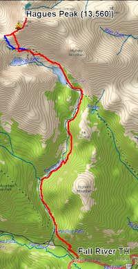 Hagues Peak Route Topo