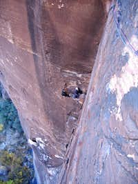 Looking down at the third pitch