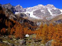 Monte Rosa. The side of Valsesia.