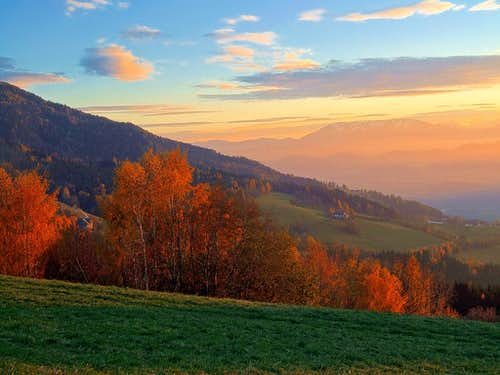 Koralpe autumn evening