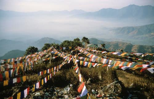 Prayer flags above Katmandu, Nepal