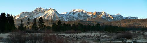Early Morning Sun on the Sawtooths