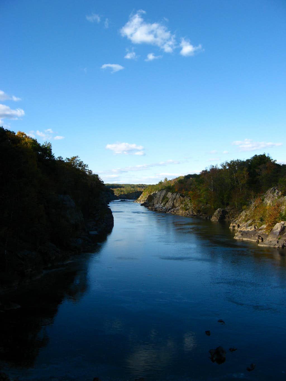 Potomac River Flowing through Mather Gorge