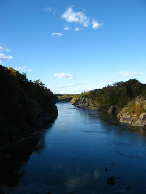 Potomac River Flowing through Mather Gorge