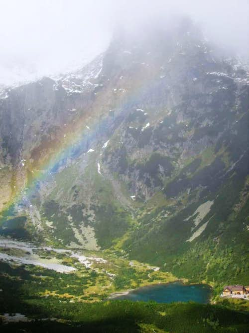 rainbow over the Green Lake