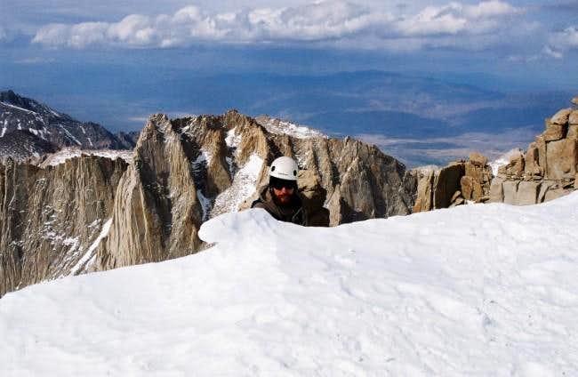 derbilly cresting the summit...