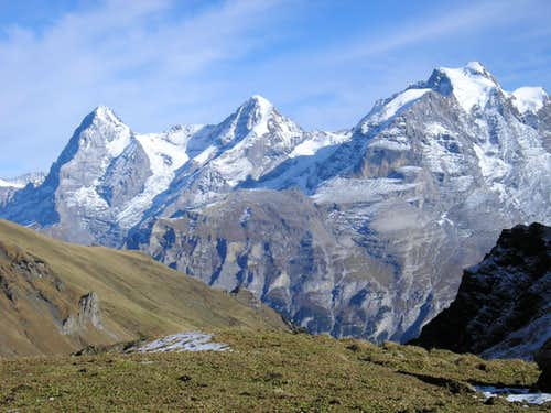 Eiger 3970m - Mönch 4107m - Jungfrau 4158m -
