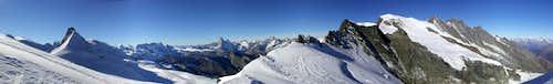 Rimpfischhorn, Matterhorn & Dom