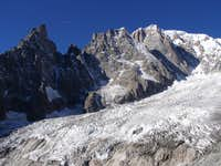 Peuterey ridge from Brenva side