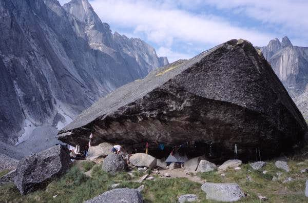Camp in the Cirque of the Unclimbables