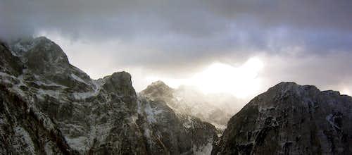 peaks above Zadnjica valley