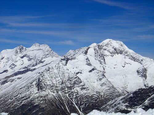 Lagginhorn 4010m & Weissmies 4017m