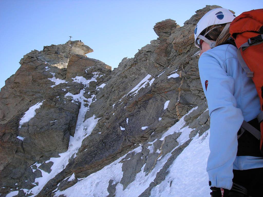Ridge of Zinalrothorn 4221m