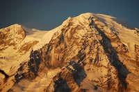 Close up of Mt. Rainier showing Success Cleaver