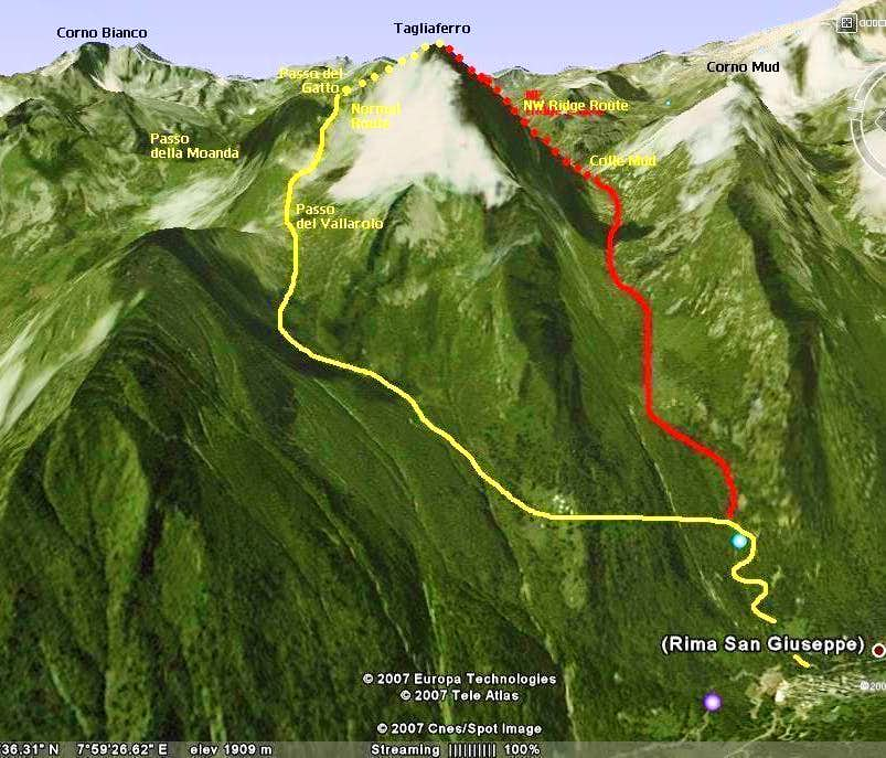 Tagliaferro routes map01