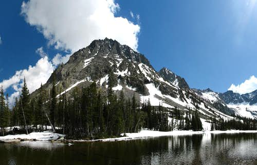 Granite Peak, & Lower Twin Lake
