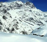 Monte Rosa in winter