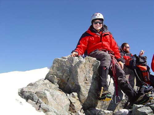 On the Top of Piz Bernina 4049m