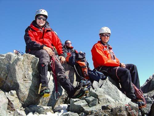 On the Top of Piz Bernina 4049m