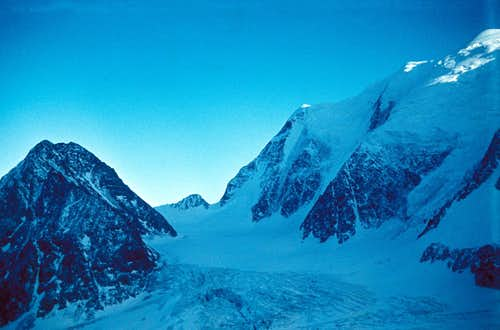 Peak 3972 m and East Branch of Mensu Glacier, Altay