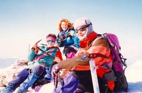 Climbers on Korakas (2495m),...